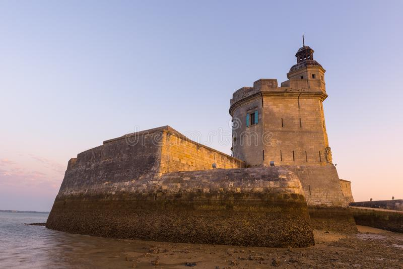 Fort Louvois at low tide, Charente-Maritime, France. Fort Louvois at low tide, Charente-Maritime in France stock photography