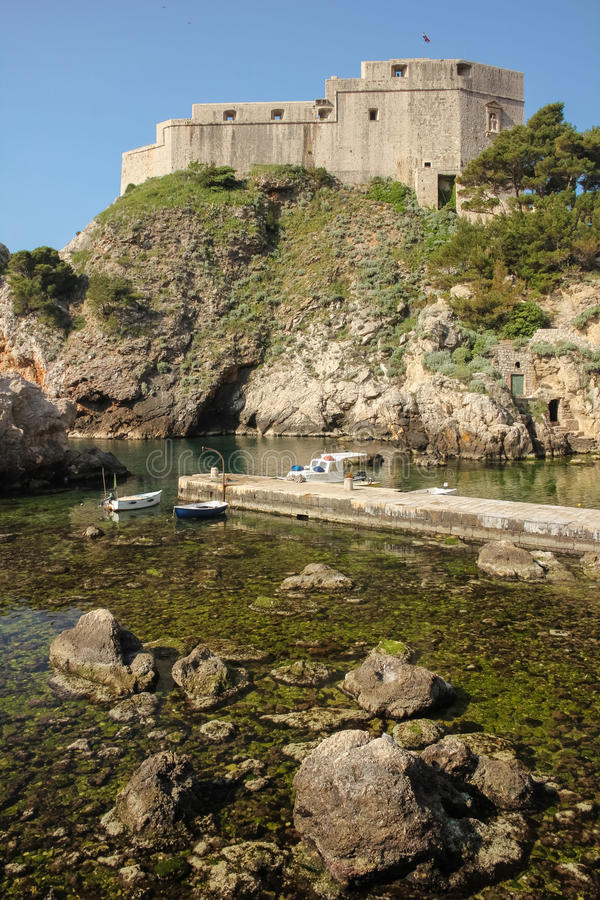 Fort Lovrijenac. Dubrovnik. Croatia. The massive Fort Lovrijenac. Dubrovnik. Croatia royalty free stock photography