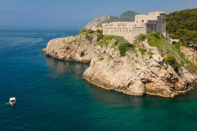 Fort Lovrijenac. Dubrovnik. Croatia. The massive Fort Lovrijenac. Dubrovnik. Croatia royalty free stock photo