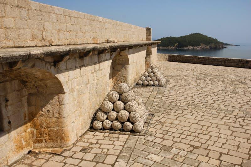 Fort Lovrijenac dubrovnik kroatien lizenzfreies stockfoto