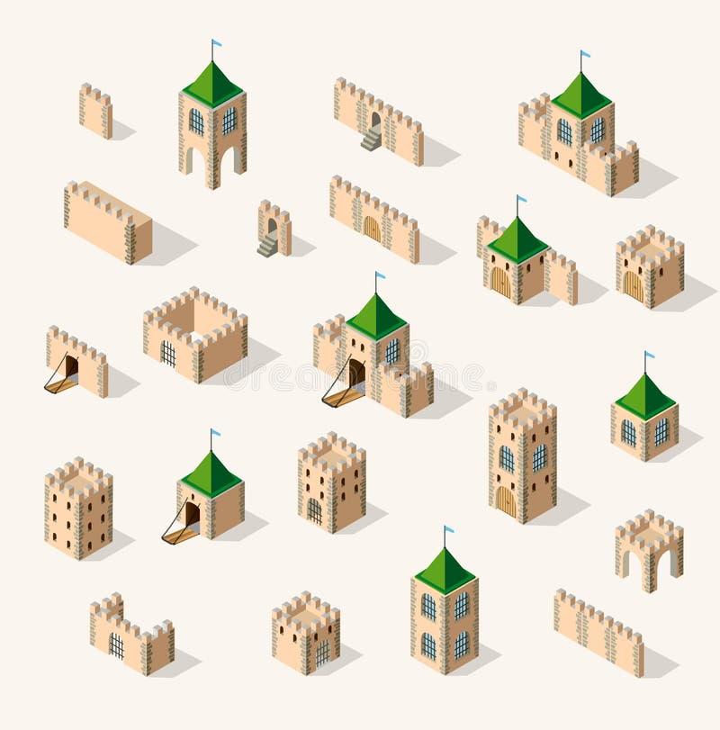 Fort médiéval de forteresse illustration stock