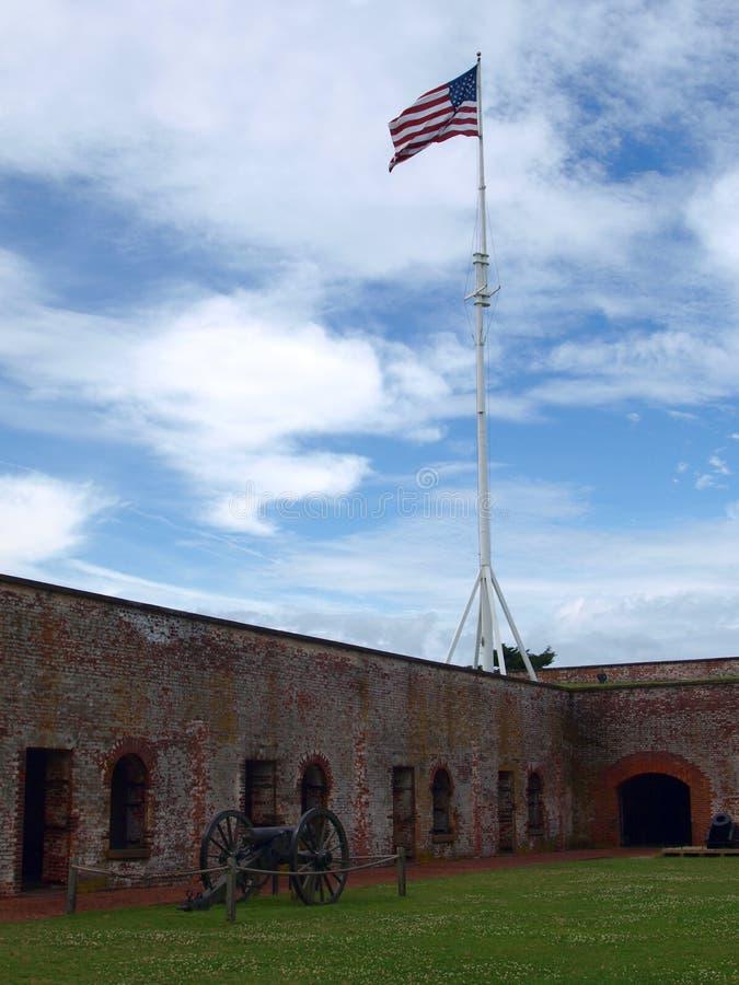 Fort Macon stockfotos