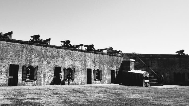 Fort Macon Emerald Isle stock afbeelding