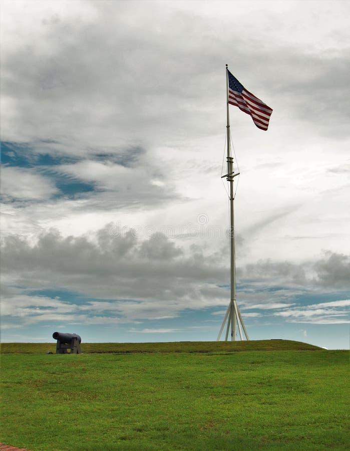 Fort Macon en Caroline du Nord photographie stock