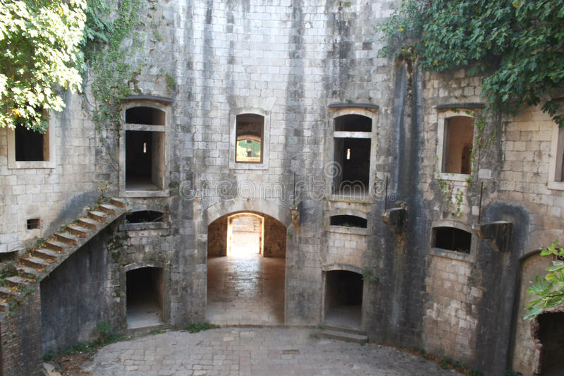 Fort Mamula royalty-vrije stock foto