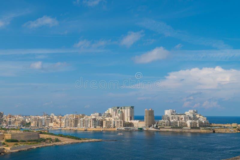 Fort Manoel and waterfront Sliema, Malta stock photo