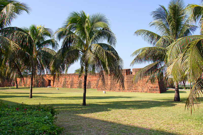 Fort in Maputo, Mozambique. Old portugese fort in Maputo, Mozambique royalty free stock images