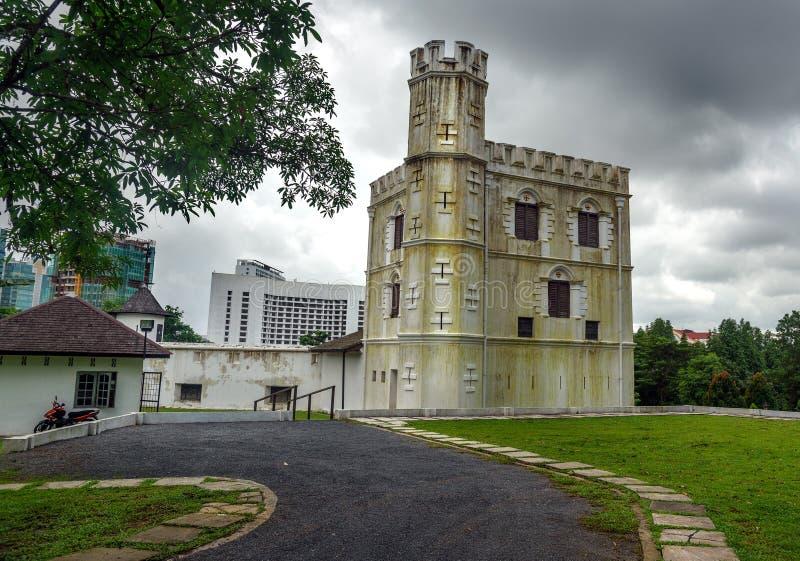 Fort Margherita in Kuching stock foto