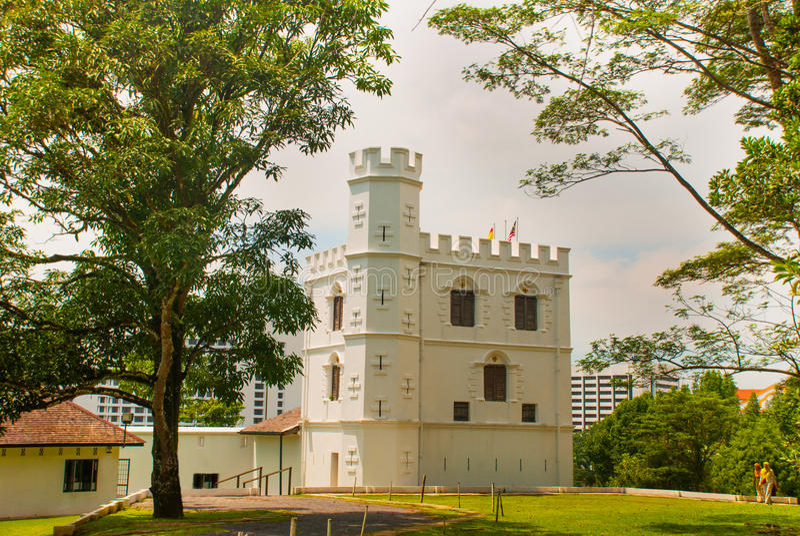 Fort Margherita in Kuching sarawak maleisië borneo stock afbeelding