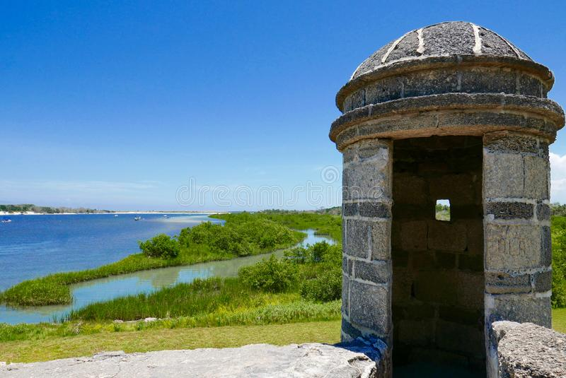 Fort Matanzas, St Augustine, Floryda, usa obrazy stock