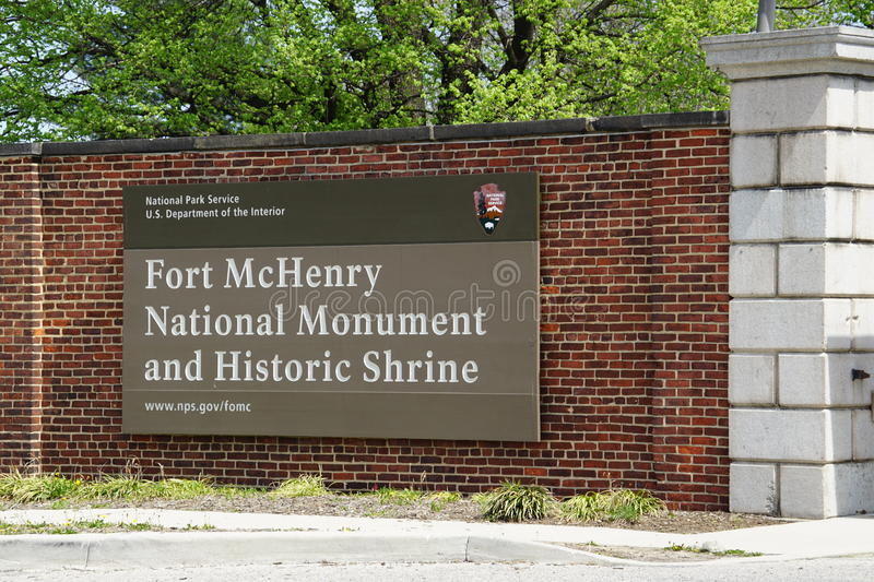 Fort McHenry National Monument and Historic Shrine in Baltimore, Maryland stock photography