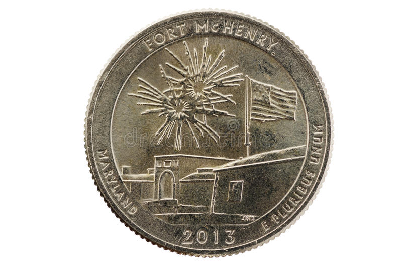 Fort McHenry Quarter stock image