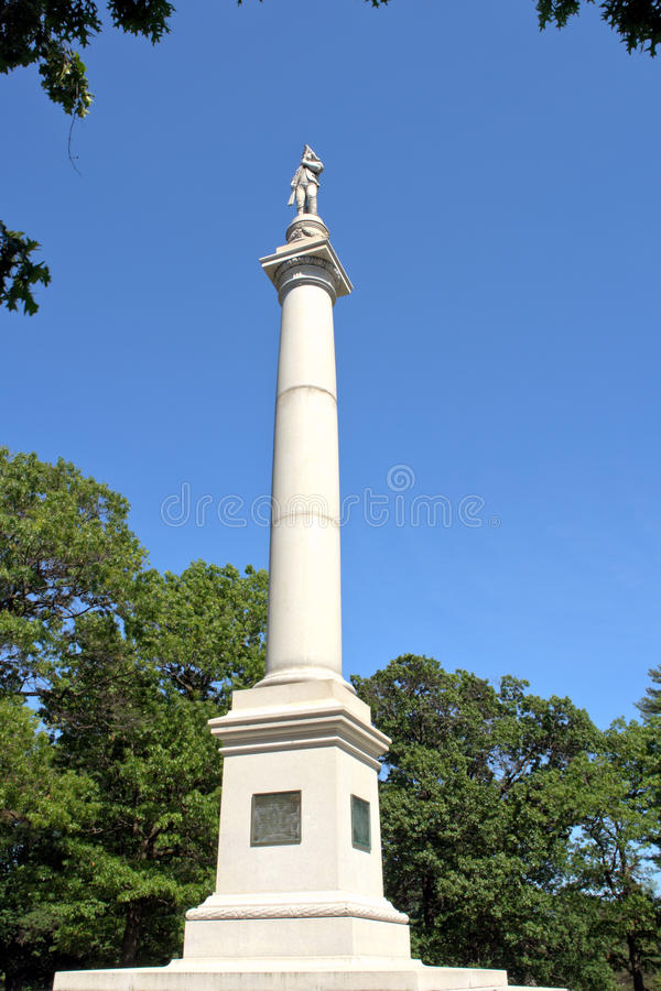 Fort Mercer Monument at Red Bank in New Jersey royalty free stock image