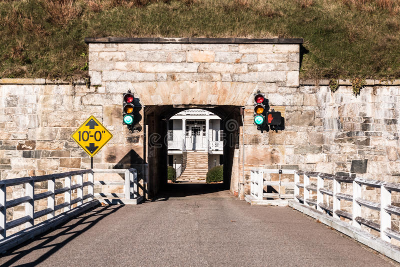 Fort Monroe in Hampton, Virginia Bridge en Tunnel royalty-vrije stock fotografie