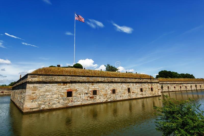 Fort Monroe medborgaremonument royaltyfria bilder