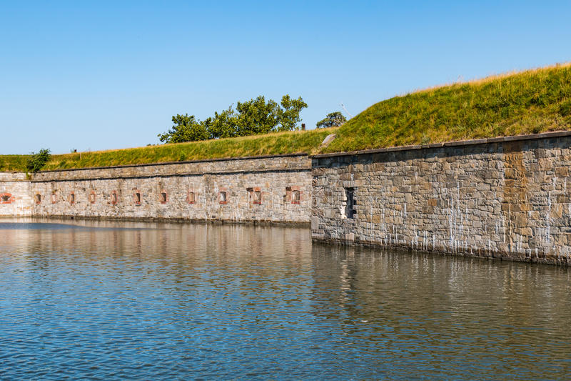 Fort Monroe störst stenfort i Amerika royaltyfri foto
