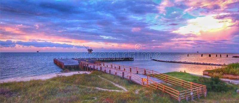 Fort-Morgan-Pier lizenzfreies stockbild