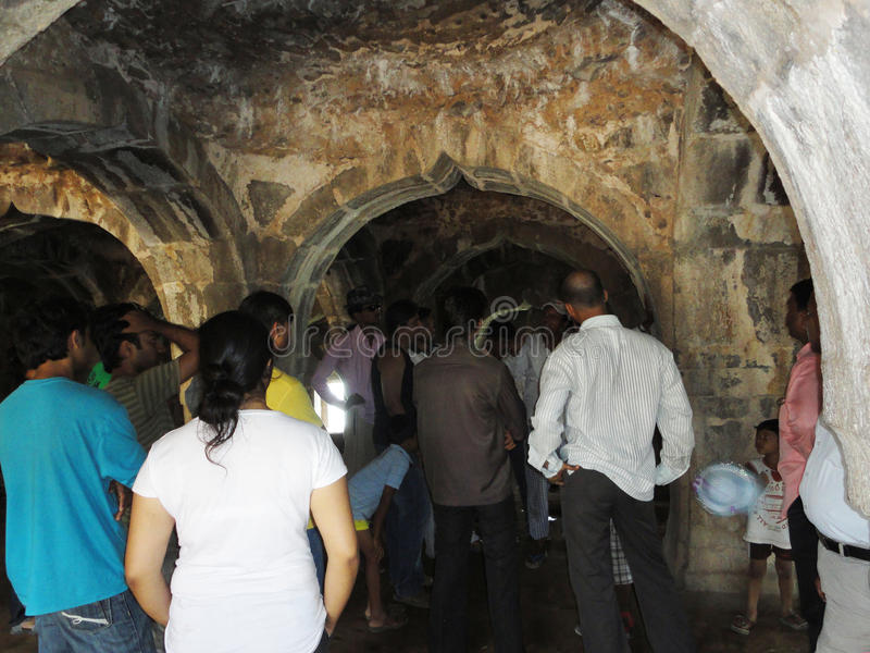 Fort Murud Janjira, Alibag Indien lizenzfreies stockfoto