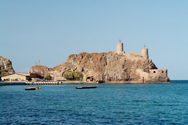 Fort in Muscateldruif, Oman royalty-vrije stock fotografie