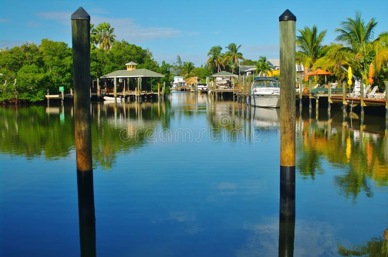 Fort myers beach. Canal in fort myers beach in florida royalty free stock photo
