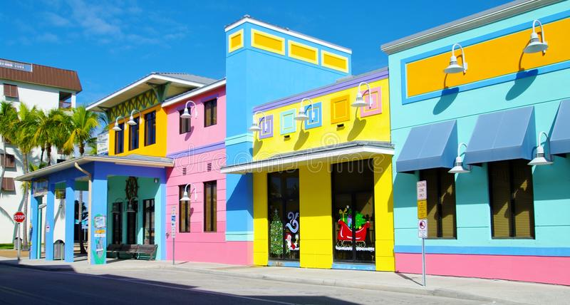 Fort myers beach. Colorful building in fort myers beach royalty free stock image