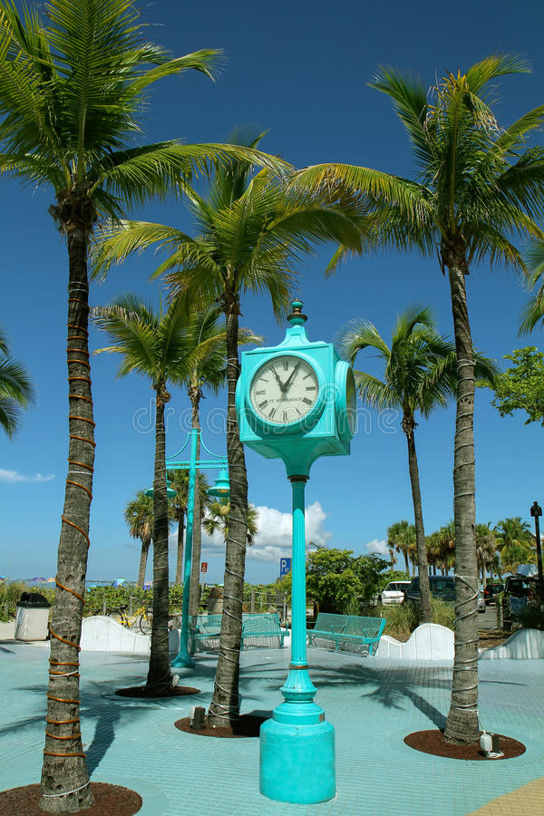 Fort Myers Beach, Times Square-Uhr stockfoto