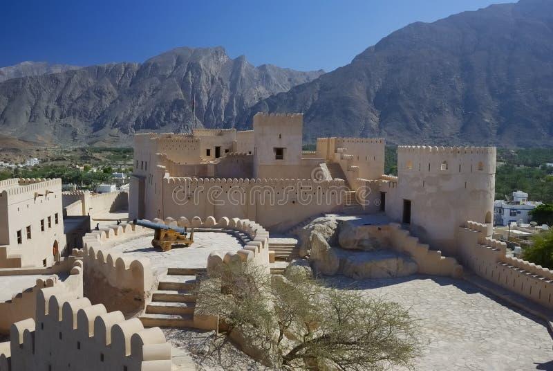 Fort Nakhal, Noordelijk Oman stock foto