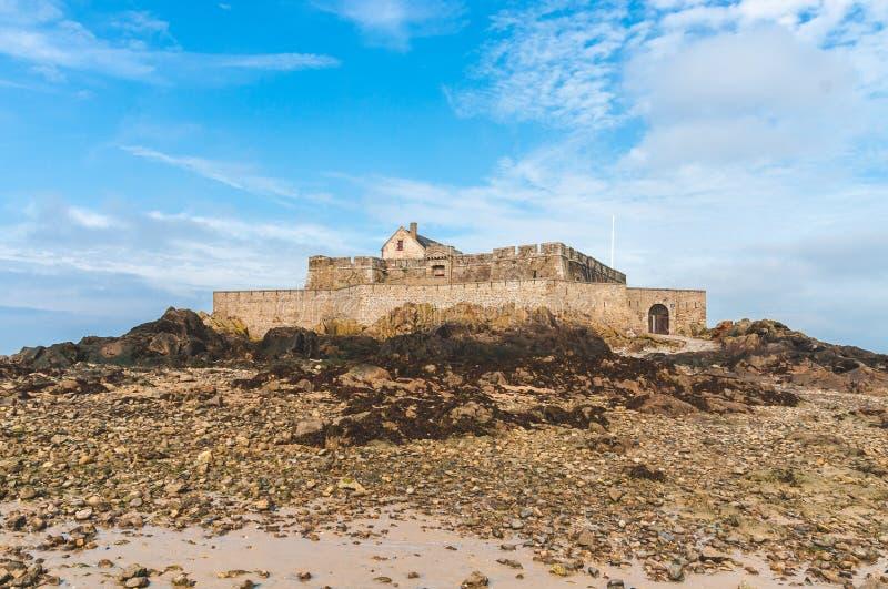 Fort Nationaal op getijdeeiland royalty-vrije stock foto's