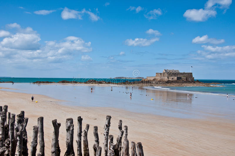 Fort National at Saint Malo. Brittany - France royalty free stock images
