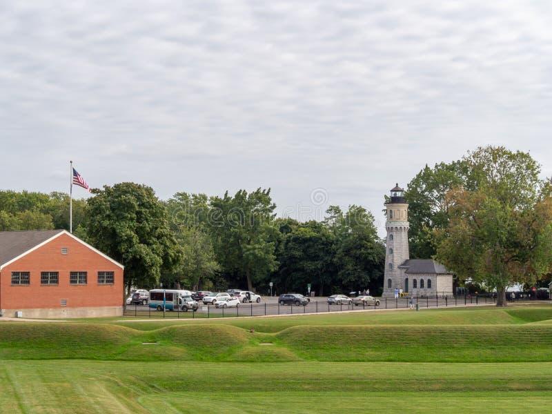 Fort Niagara, Estado de Nueva York, Estados Unidos de América: [ Parque estatal y museo, emplazamiento histórico británico y fran foto de archivo