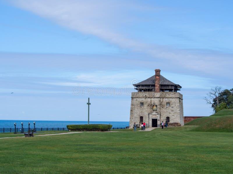 Fort Niagara, Estado de Nueva York, Estados Unidos de América: [ Parque estatal y museo sitio histórico, fortificación británica  imagen de archivo libre de regalías