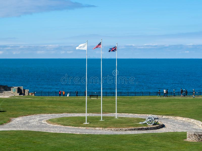 Fort Niagara, New York State, United States of America  : [ State park and museum historic site, British and french fortification]. Fort Niagara, New York State stock photos