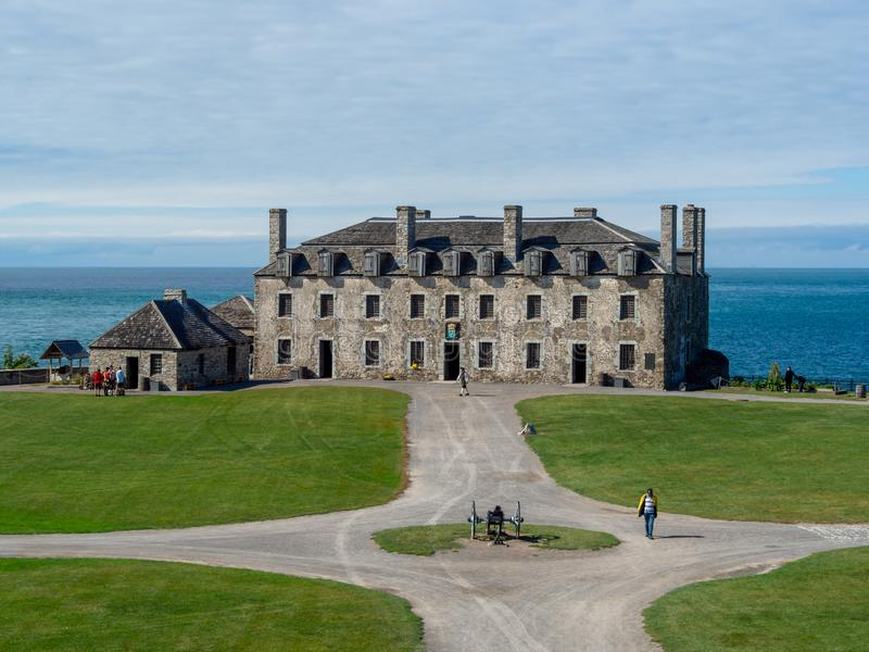 Fort Niagara, New York State, United States of America  : [ State park and museum historic site, British and french fortification]. Fort Niagara, New York State royalty free stock photo