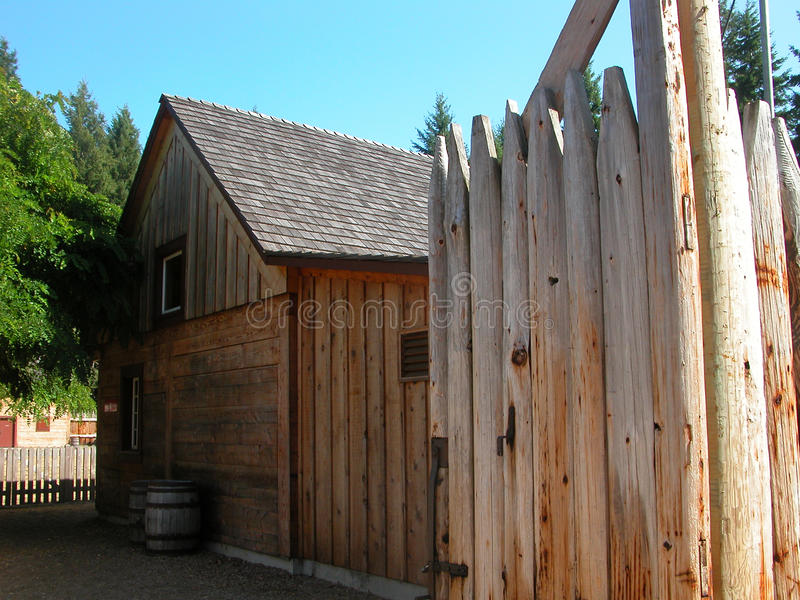 Fort Nisqually - Tacoma, Washington arkivbild