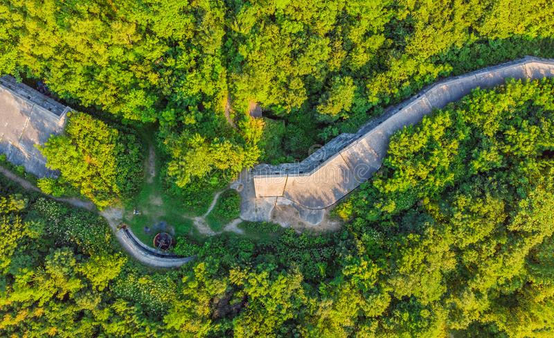 Fort No. 7 in Vladivostok. Russia Aerial photo from drone.  stock images