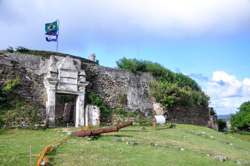 Fort Nossa S.ra DOS Remedios, Fernando de Noronha lizenzfreies stockbild