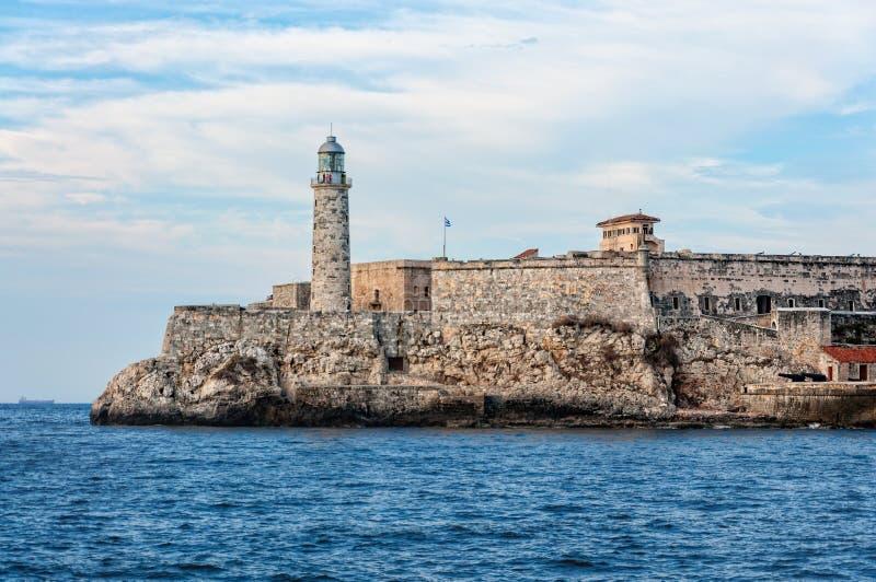 Fort och fyr i den gamla havannacigarren, Kuba fotografering för bildbyråer