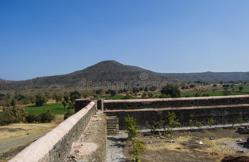 Fort och landskap royaltyfri fotografi