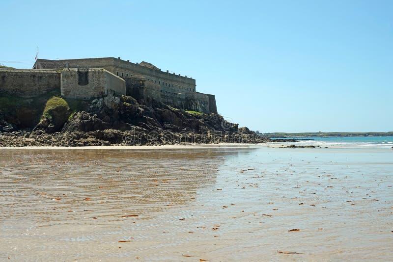 Fort Penthièvre dans Quiberon, la Bretagne image libre de droits