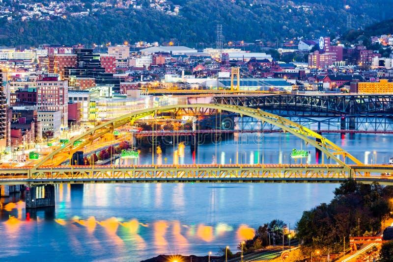 Fort Pitt Bridge. Spans Monongahela river in Pittsburgh, Pennsylvania stock photography