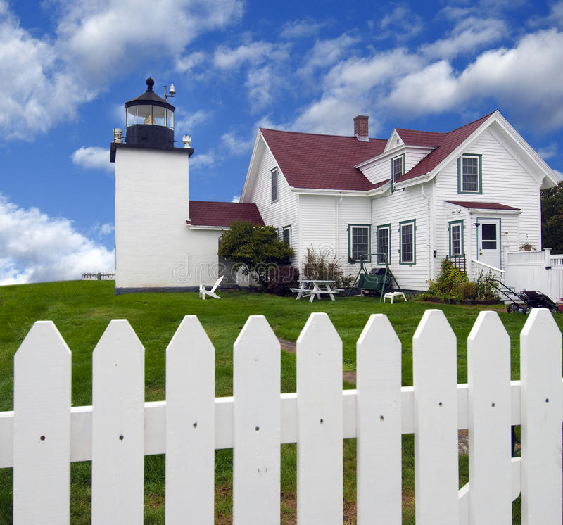 Download Fort Point Lighthouse stock image. Image of building - 24284403