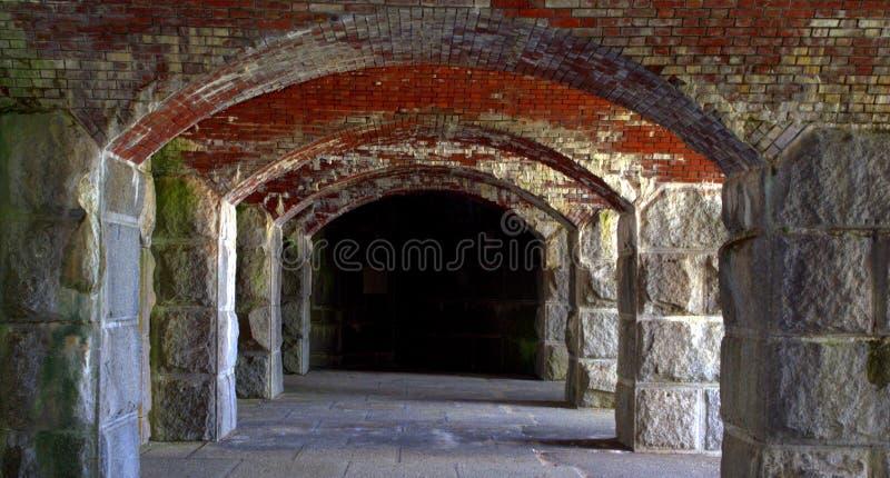Fort Popham, Maine de V.S. stock foto's