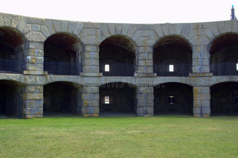 Fort Popham, Pippsburg Maine de V.S. stock fotografie