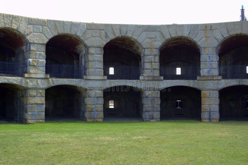 Fort Popham, Pippsburg Maine usa fotografia stock