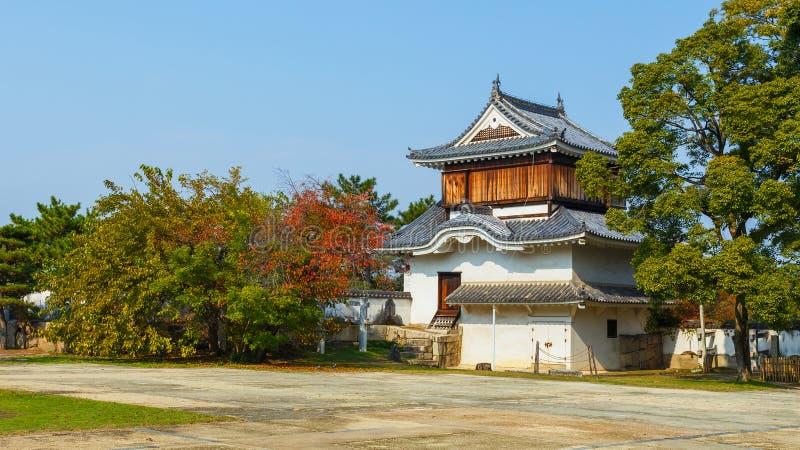 Fort przed Okayama kasztelem fotografia stock