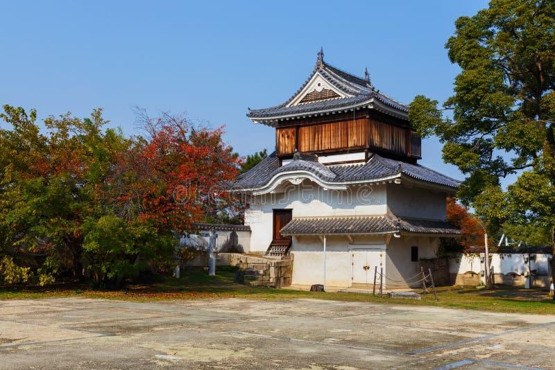 Fort przed Okayama kasztelem zdjęcie royalty free