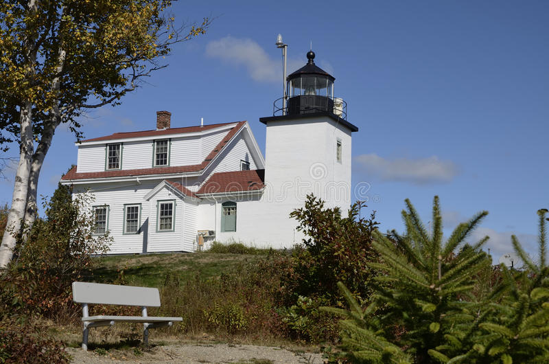 Fort-Punkt-Leuchtturm, Neu-England, Maine, Vereinigte Staaten lizenzfreie stockfotos