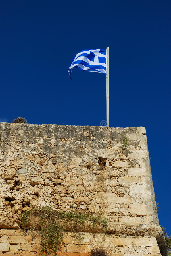 Download Fort of Rethymnon stock photo. Image of tourists, greece - 26928914