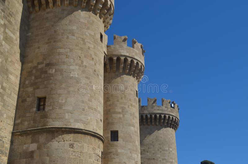 Fort in Rhodes Greece stockfotografie