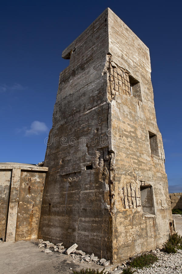 Download Fort Ricasoli Gun Tower stock photo. Image of fort, dilapidated - 18890056